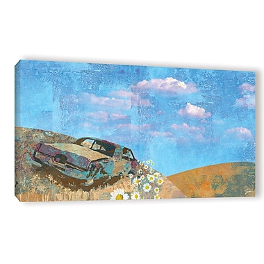 Ebern Designs 'Rusted' Painting Print on Wrapped Canvas; 24'' H x 48'' W