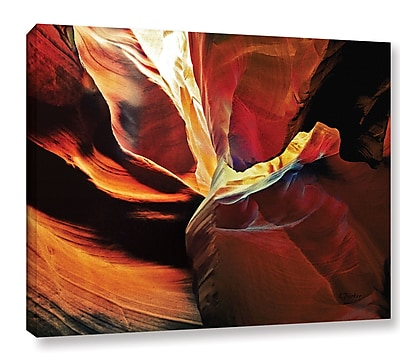 Ebern Designs 'Slot Canyon Light From Above 2' Photographic Print on Wrapped Canvas; 14'' H x 18'' W