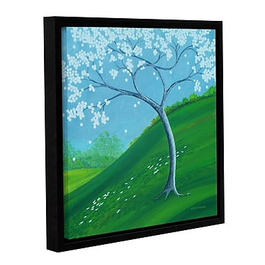 Latitude Run 'Happy Hill' Framed Painting Print on Wrapped Canvas; 36'' H x 36'' W x 2'' D