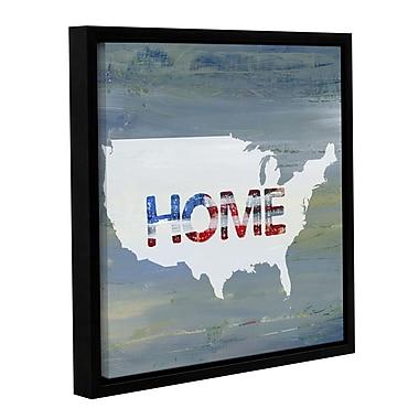 Latitude Run 'America Home II' Framed Textual Art; 24'' H x 24'' W x 2'' D