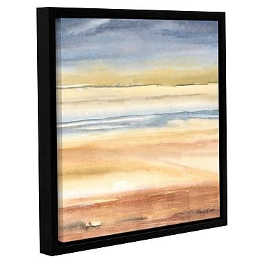 Orren Ellis 'Waves on the Shore' Framed Graphic Art Print on Canvas; 18'' H x 18'' W x 2'' D