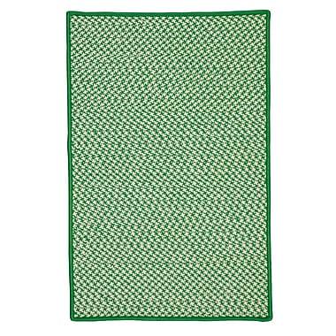 Harriet Bee Surrency Houndstooth Tweed Hand-Woven Green Indoor/Outdoor Area Rug; 3' x 5'