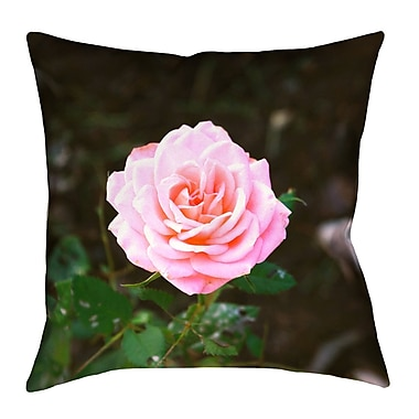 East Urban Home Rose Linen Throw Pillow; 14'' x 14''