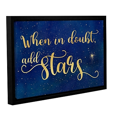 Zoomie Kids 'When in Doubt' Framed Textual Art on Wrapped Canvas; 16'' H x 24'' W x 2'' D