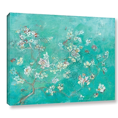 Bloomsbury Market 'Butter Blossoms Flowers' Framed Graphic Art on Wrapped Canvas