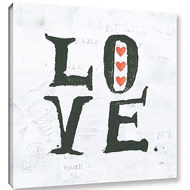Ebern Designs 'Love' Textual Art on Canvas; 24'' H x 24'' W x 2'' D
