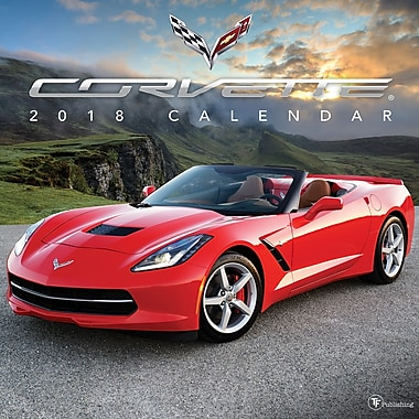 Tf Publishing 2018 Corvette Wall Calendar 12