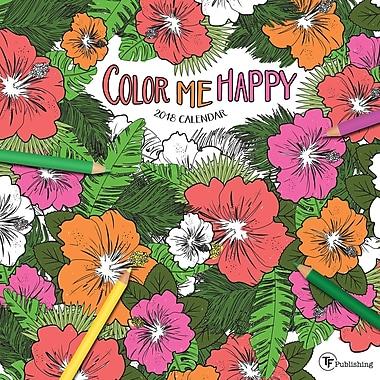 Tf Publishing 2018 Color Me Happy Wall Calendar 12
