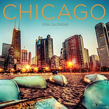 Tf Publishing 2018 Chicago Wall Calendar 12