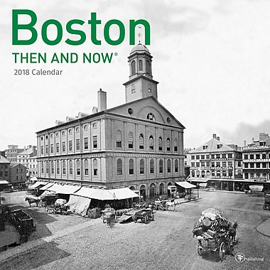 Tf Publishing 2018 Boston Then And Now Wall Calendar 12