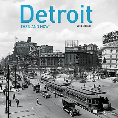Tf Publishing 2018 Detroit Then And Now Wall Calendar 12