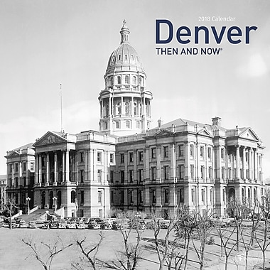 Tf Publishing 2018 Denver Then And Now Wall Calendar 12