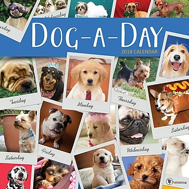Tf Publishing 2018 Dog-A-Day Wall Calendar 12