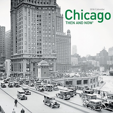 Tf Publishing 2018 Chicago Then And Now Wall Calendar 12