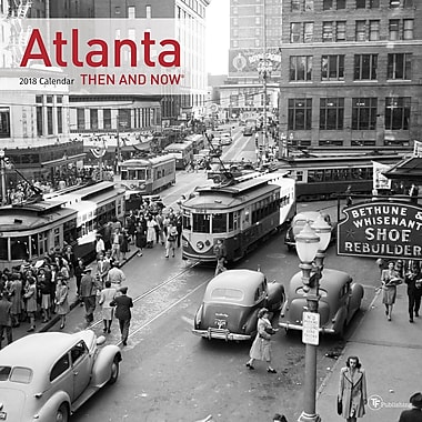 Tf Publishing 2018 Atlanta Then And Now Wall Calendar 12