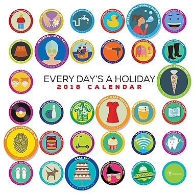 Tf Publishing 2018 Every Day's A Holiday Wall Calendar 12