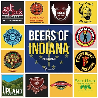 Tf Publishing 2018 Beers Of Indiana Wall Calendar 12