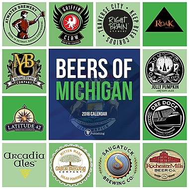 Tf Publishing 2018 Beers Of Michigan Wall Calendar 12