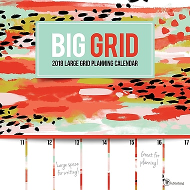 Tf Publishing 2018 Big Grid Wall Calendar 12