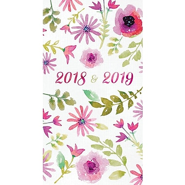 Tf Publishing 2018-2019 Watercolor 2 Year Pocket Planner 3.5