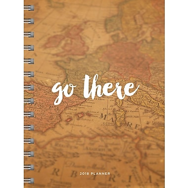 Tf Publishing 2018 Go There Medium Weekly Monthly Planner 6.5
