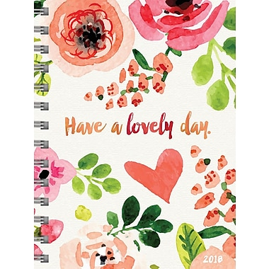 Tf Publishing 2018 Lovely Day Medium Weekly Monthly Planner 6.5