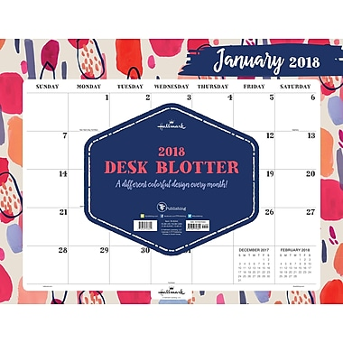 Tf Publishing 2018 The Art Of Hallmark Desk Blotter 22