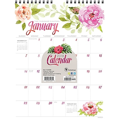 Tf Publishing 2018 Flowers Monthly Wall Calendar 8.5