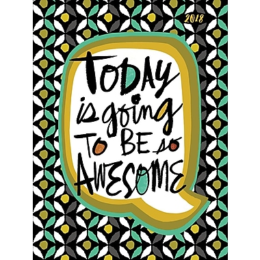 Tf Publishing 2018 Awesome Today Medium Weekly Monthly Planner 6.5