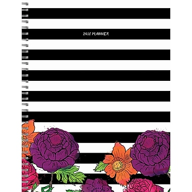 Tf Publishing 2018 Striped Floral Large Weekly Monthly Planner 9