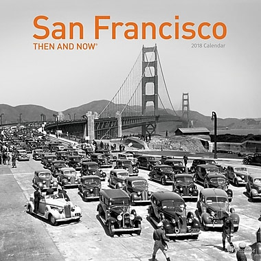 Tf Publishing 2018 San Francisco Then And Now Wall Calendar 12
