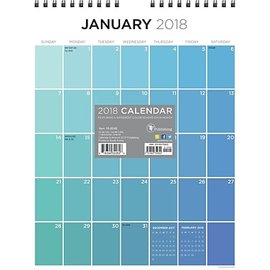 Tf Publishing 2018 For The Love Of Color Monthly Wall Calendar 8.5