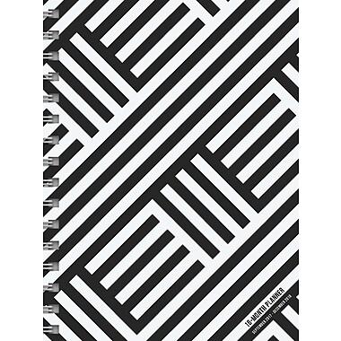 Tf Publishing 2018 Black & White Medium Weekly Monthly Planner 6.5