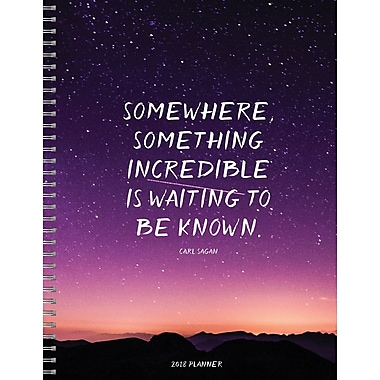 Tf Publishing 2018 Somewhere Something Large Weekly Monthly Planner 9