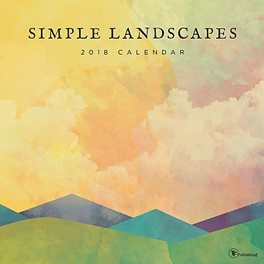 Tf Publishing 2018 Simple Landscapes Wall Calendar 12