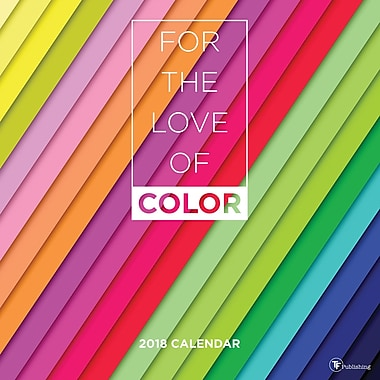 Tf Publishing 2018 For The Love Of Color Wall Calendar 12