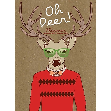 Tf Publishing 2018 Hip Deer Monthly Planner 7.5