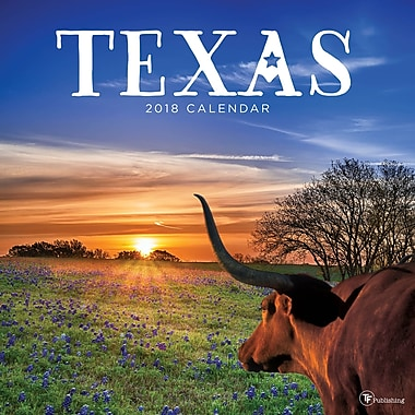 Tf Publishing 2018 Texas Wall Calendar 12