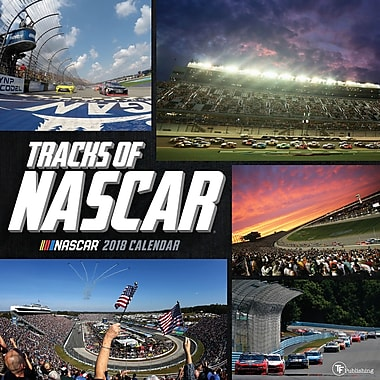 Tf Publishing 2018 Tracks Of Nascar Wall Calendar 12
