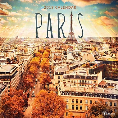 Tf Publishing 2018 Paris Wall Calendar 12