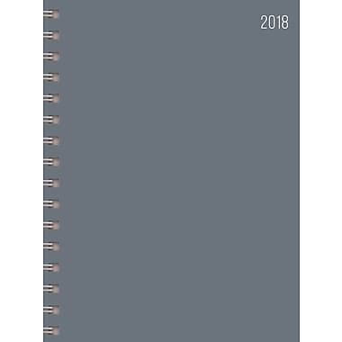 Tf Publishing 2018 Grey Medium Weekly Monthly Planner 6.5