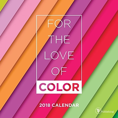 Tf Publishing 2018 For The Love Of Color Mini Calendar 7
