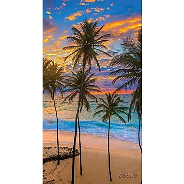 Tf Publishing 2018-2019 Tropical Beaches 2 Year Pocket Planner 3.5