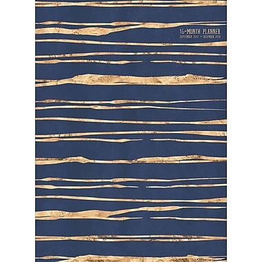 Tf Publishing 2018 Glitzy Stripes Monthly Planner 7.5