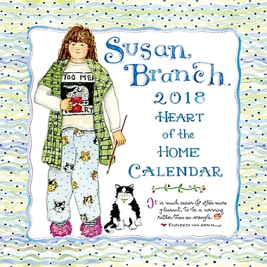 Tf Publishing 2018 Susan Branch Heart Of The Home Wall Calendar 12