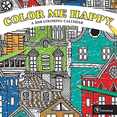 Tf Publishing 2018 Color Me Happy Mini Calendar 7