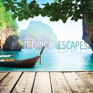 Tf Publishing 2018 Tropical Escapes Wall Calendar 12