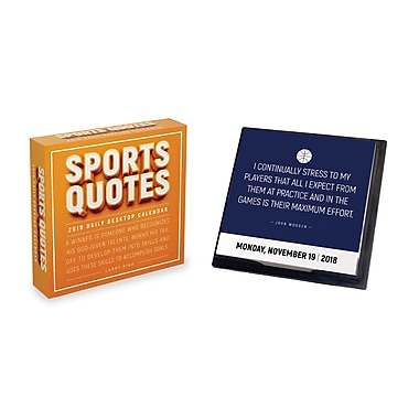 Tf Publishing 2018 Sports Quotes Daily Desktop Calendar 5.5