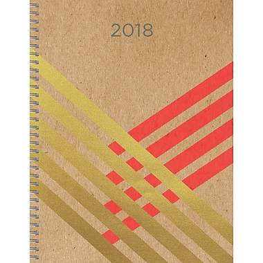 Tf Publishing 2018 Gold Kraft Large Weekly Monthly Planner 9
