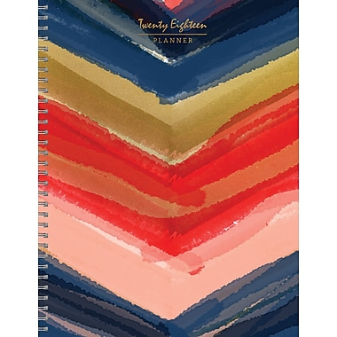 Tf Publishing 2018 Painted Colors Large Weekly Monthly Planner 9